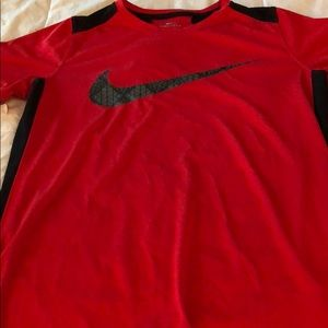Red Nike tee